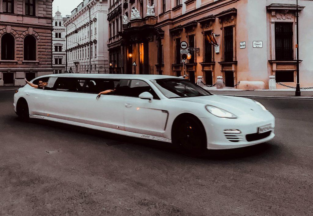 a white limo